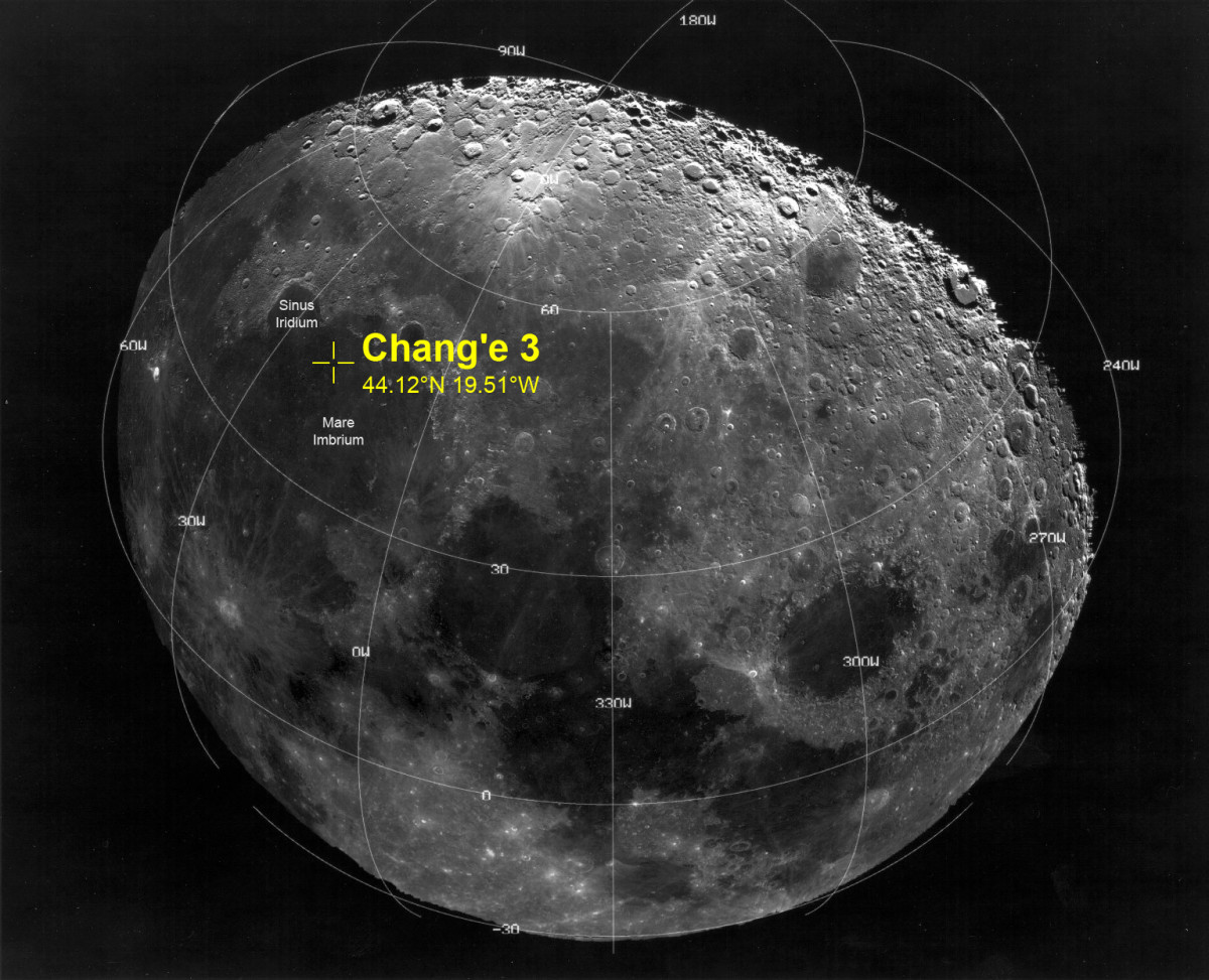 Chang'e 3 lunar landing site