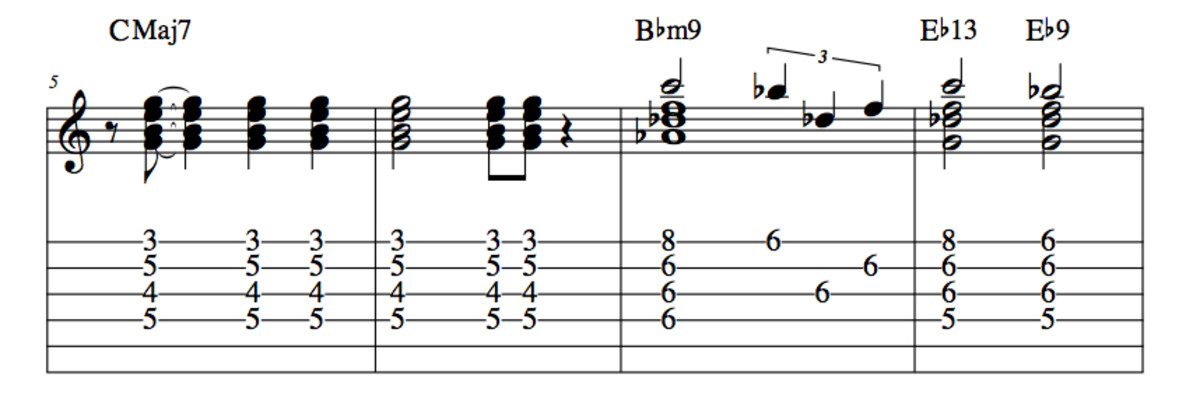 Lady Bird Chord Melody Part Two