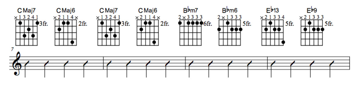 Lady Bird Chord Chart With Substitution Part Two