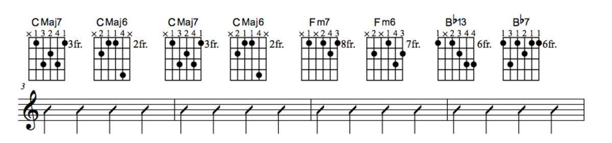 Lady Bird Chord Chart With Substitution Part One