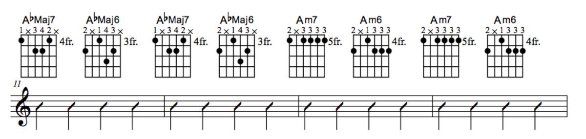 Lady Bird Chord Chart With Substitution Part Three