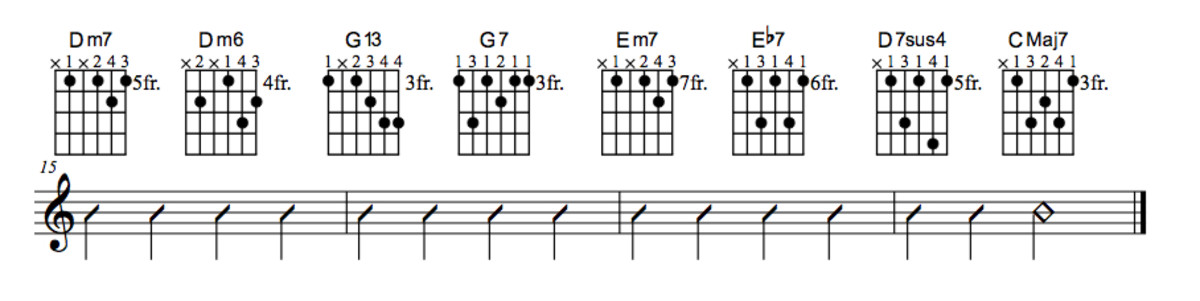 Lady Bird Chord Chart With Substitution Part Four