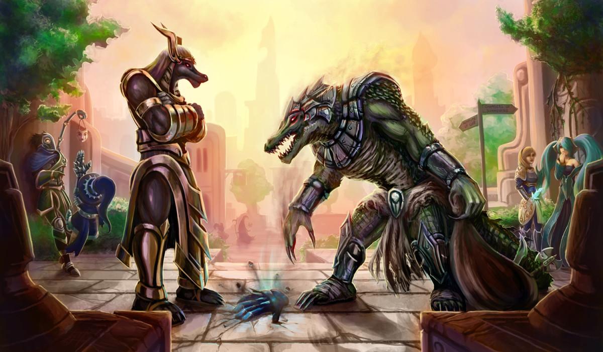 Nasus and Renekton: Brothers and Enemies