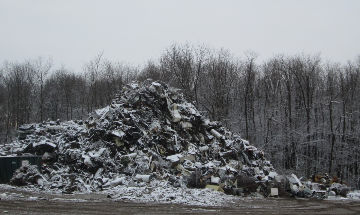 Mountains of junk, with more being made every day.