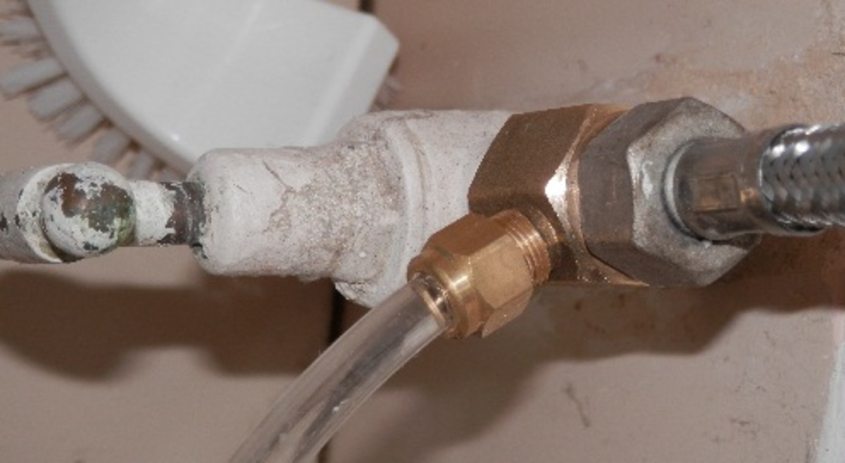 A Bidet Toilet Seat Brass Splitter correctly installed.