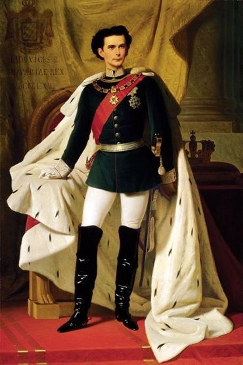 Ludwig II's coronation portrait, 1865.
