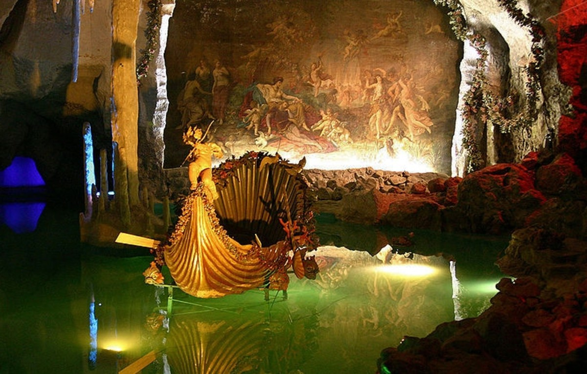 The Venus Grotto, underground beneath Linderhof Palace.