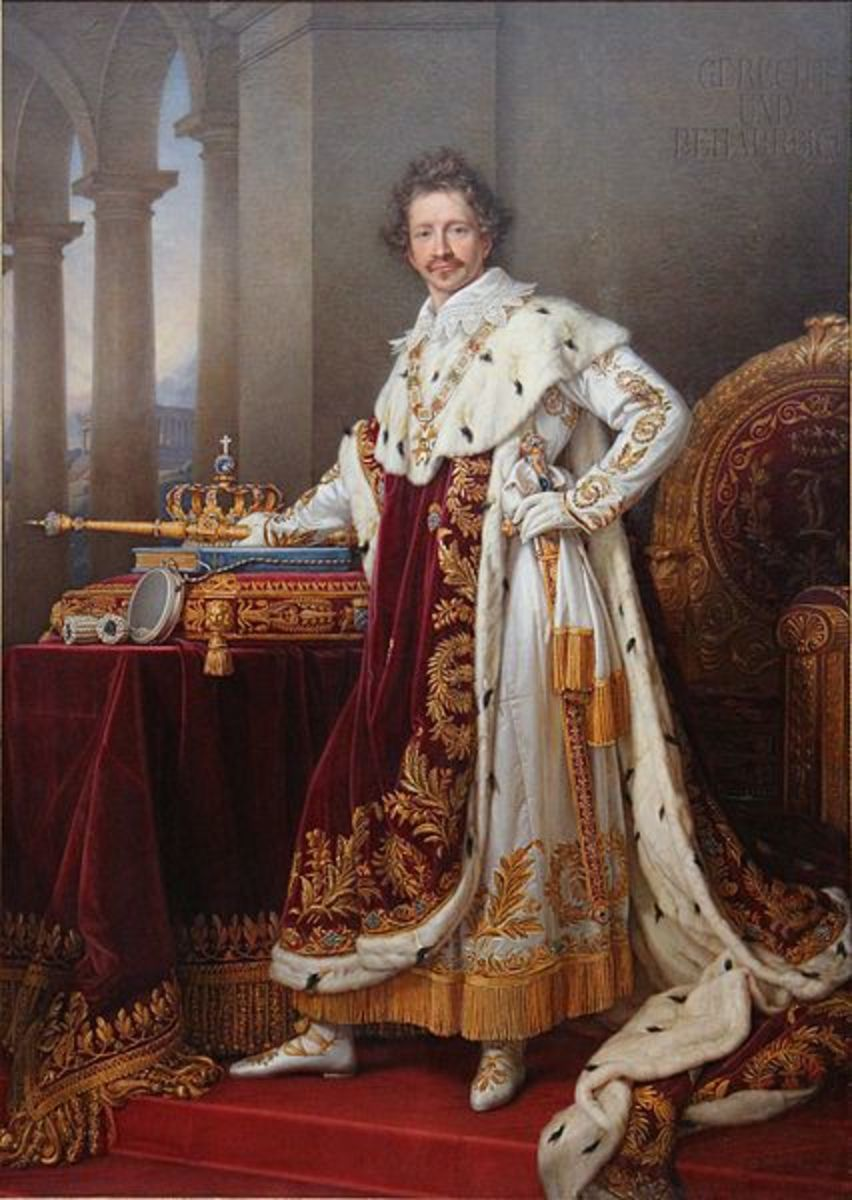 """King Ludwig I in 1825. He was known for his """"shabby"""" appearance."""