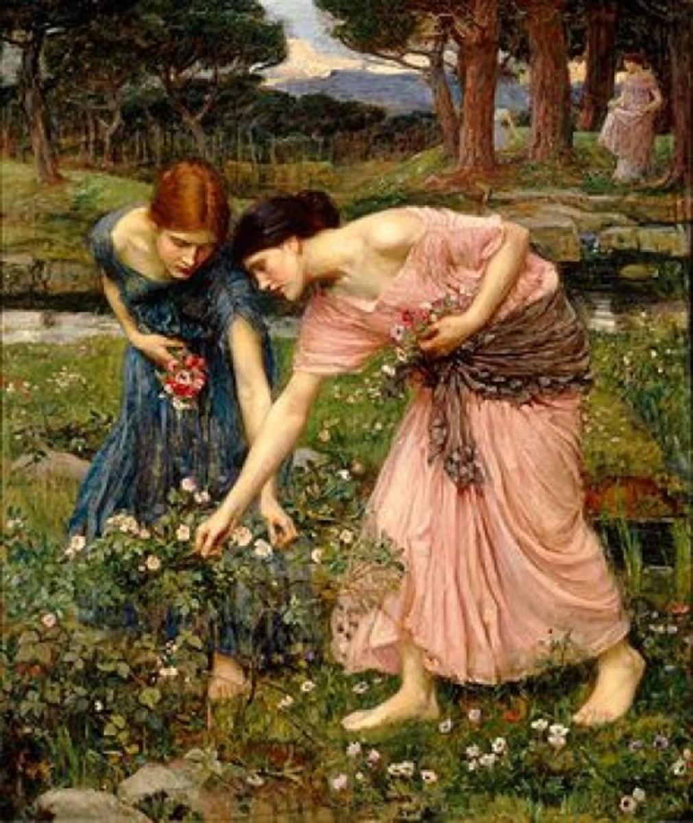 Gather Ye Rosebuds While Ye May by Waterhouse