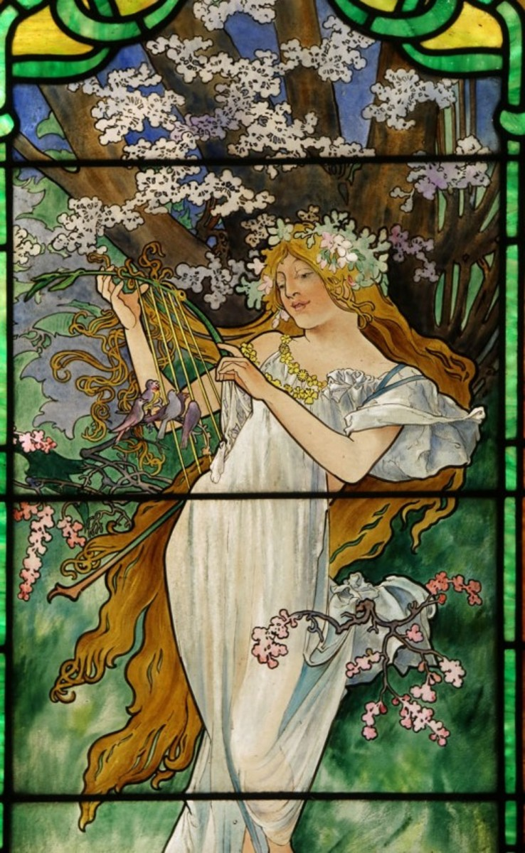 Spring, from the Four Seasons Cycle in Stained Glass