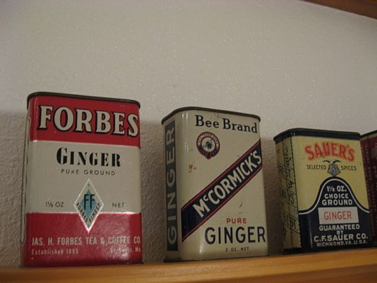 Close up of the tins.