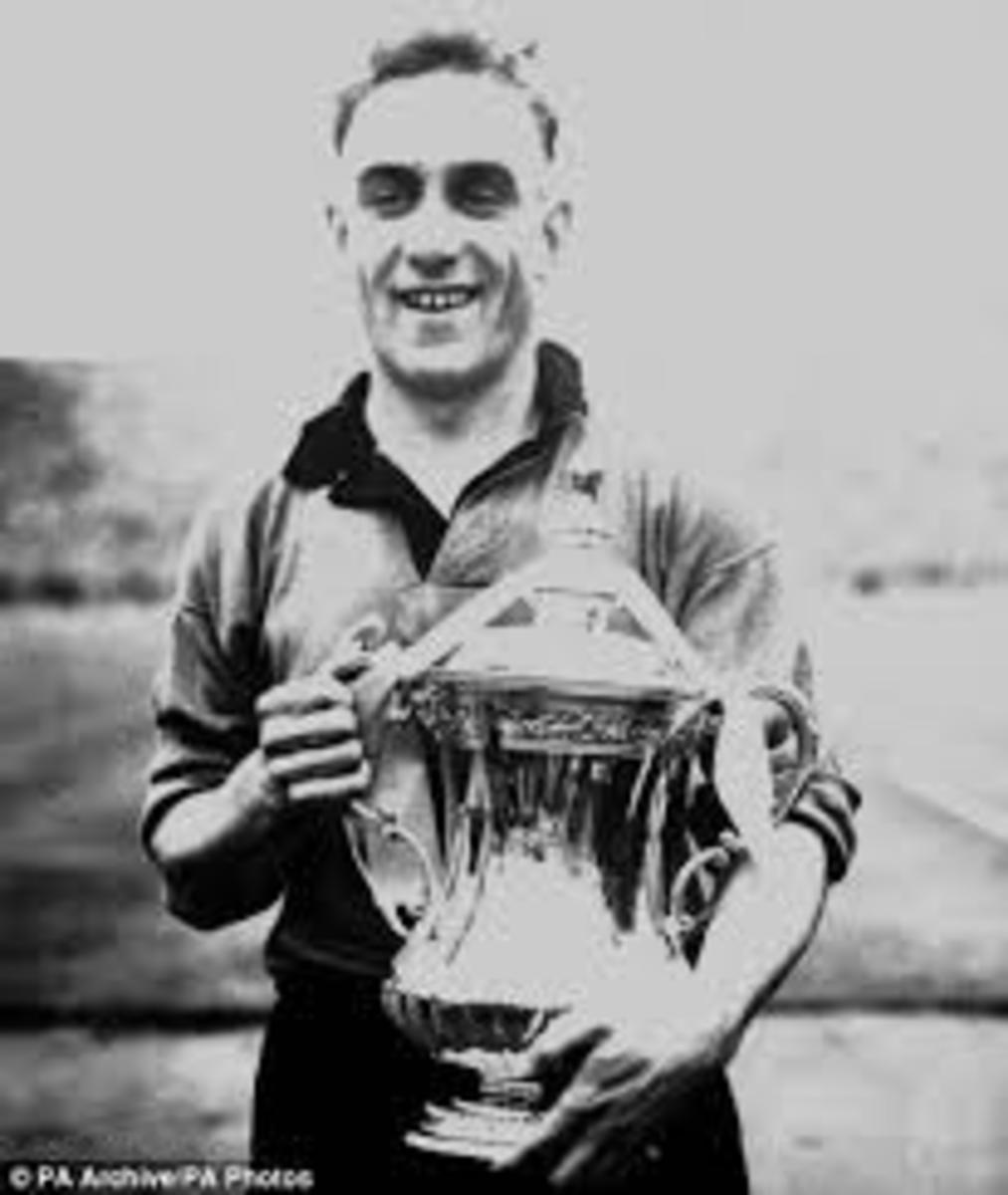 Wright with the FA Cup.