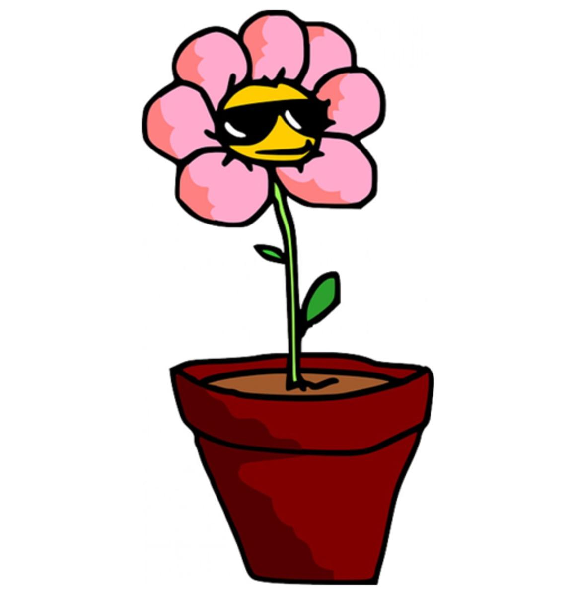 Pink Cartoon Flower