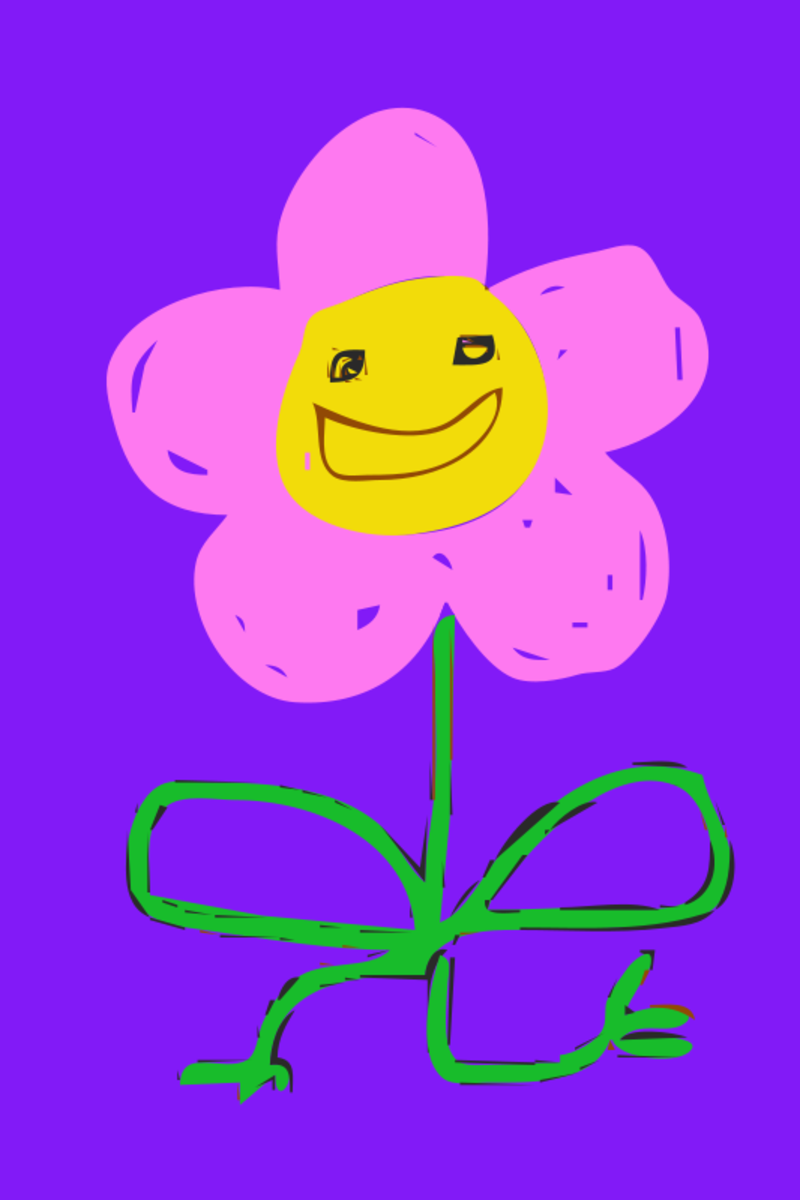 Cartoon Pink Flower