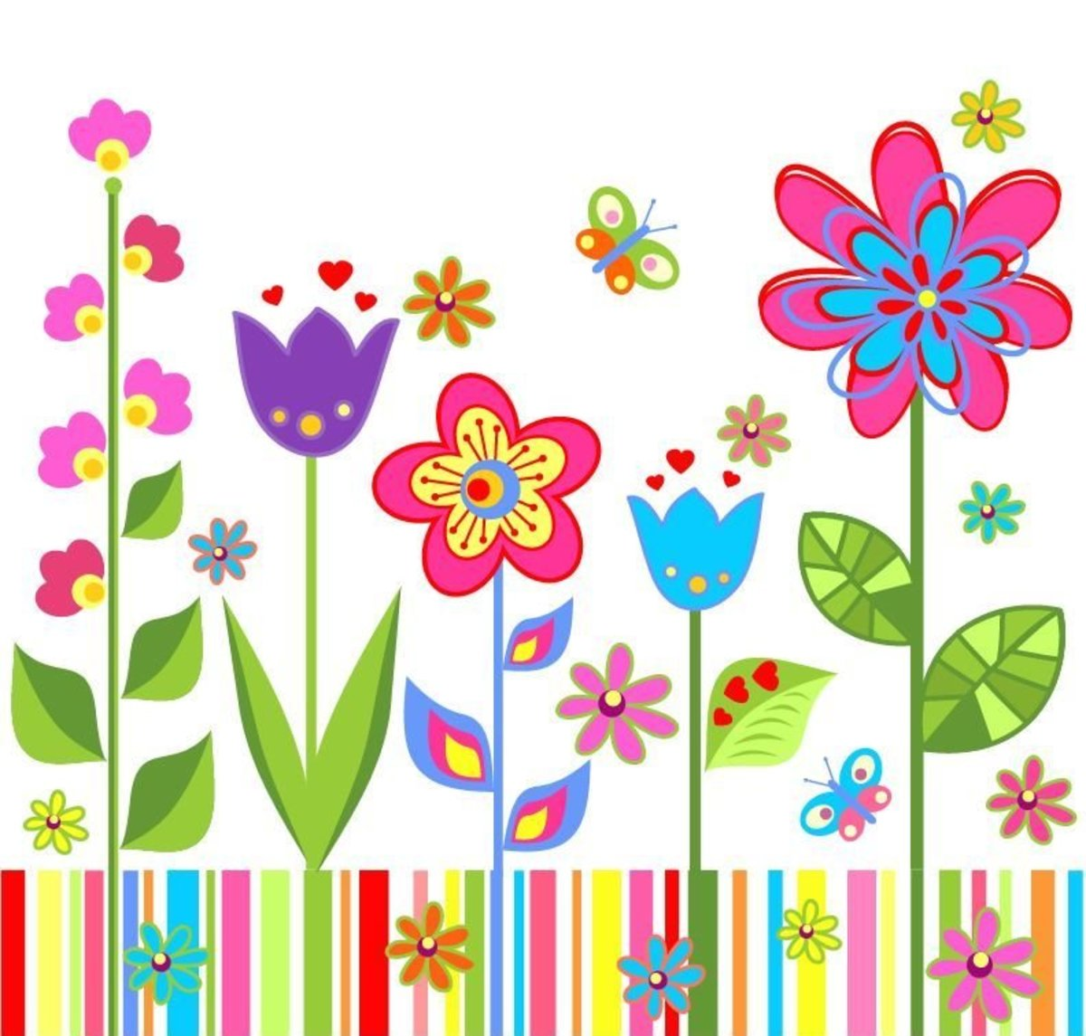 Flower clip art collection of 150 hubpages for Garden design graphics