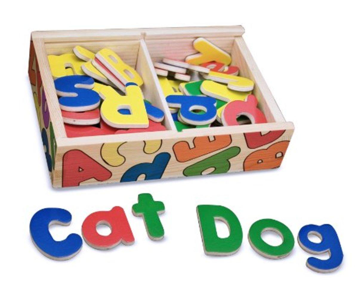 Bestseller: wooden magnetic alphabet letters by Melissa & Doug
