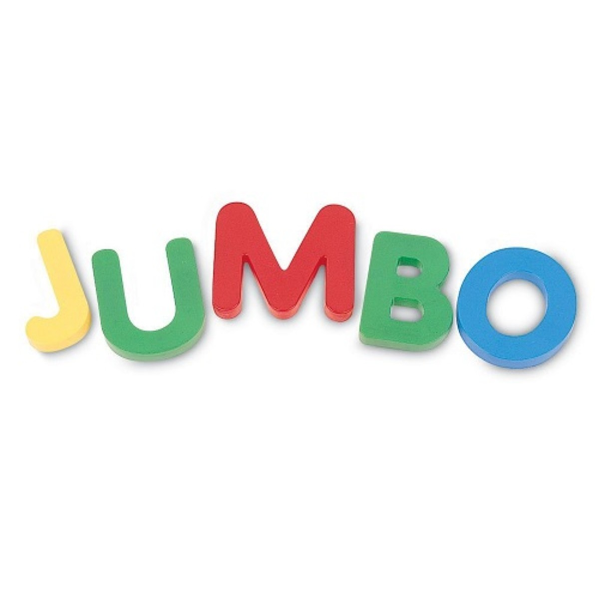 Jumbo uppercase magnetic letters - set of 40 pieces