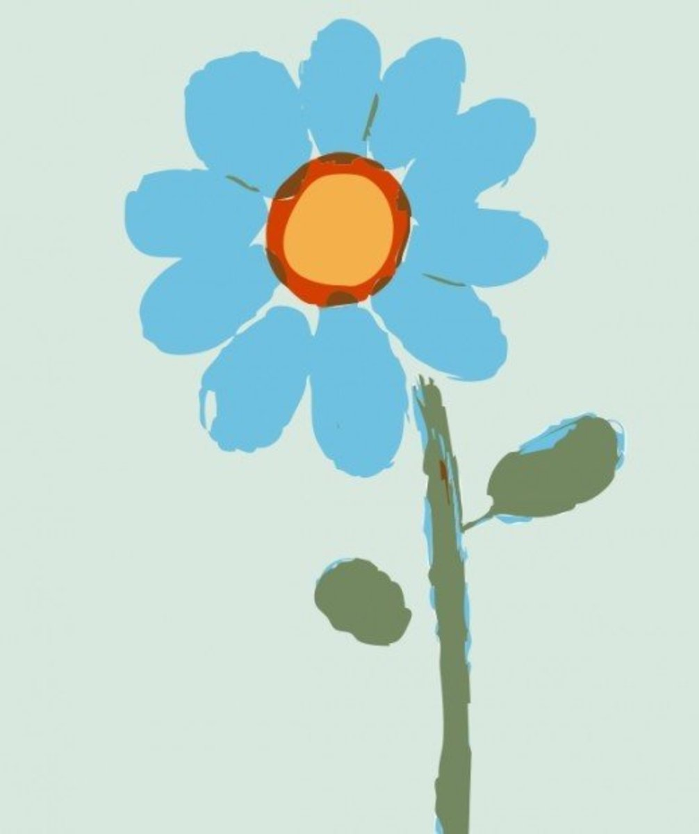 Painted Blue Flower