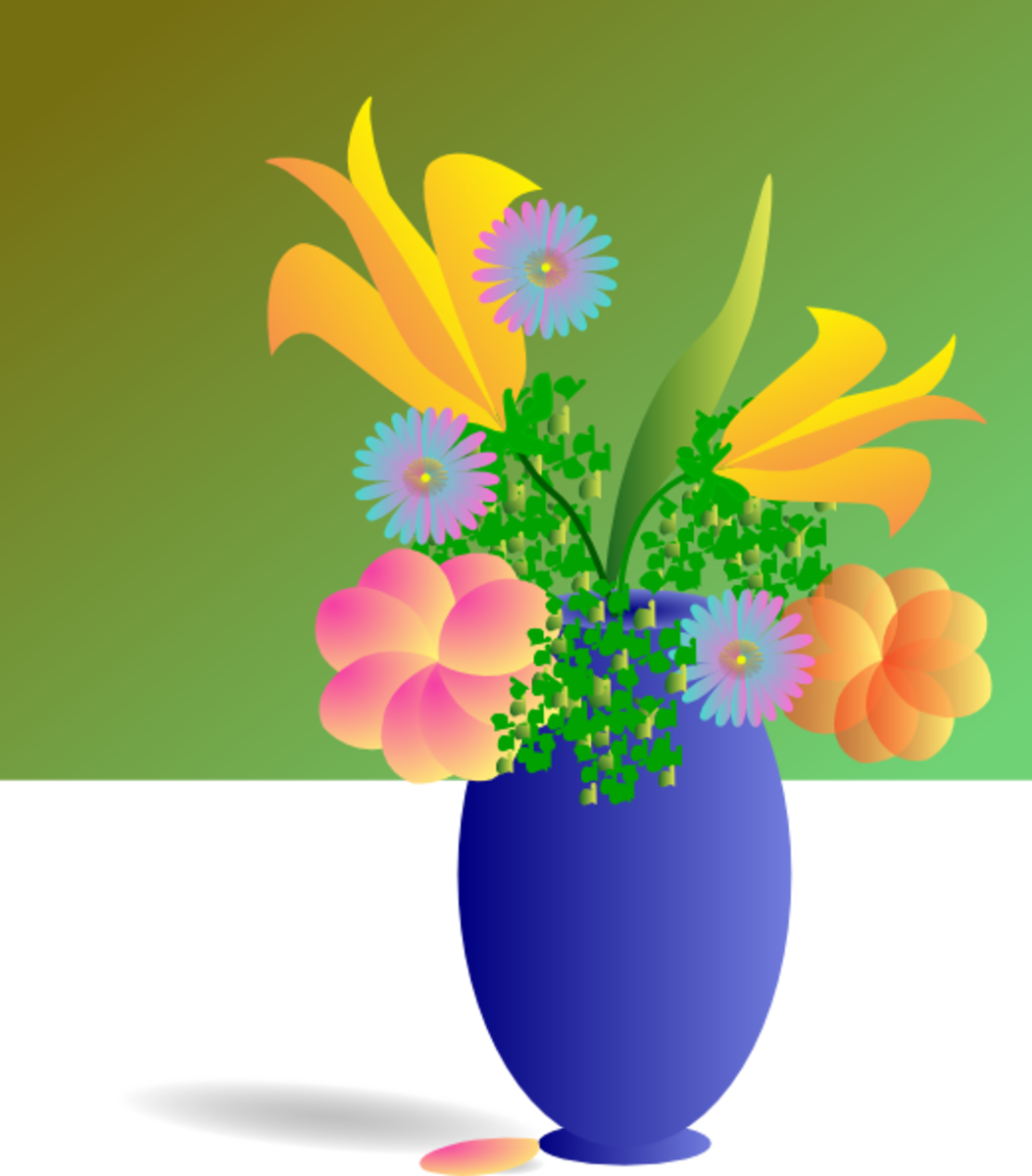 Vase of Lilies and Flowers