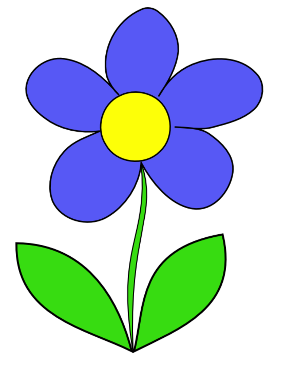 Big Blue Flower