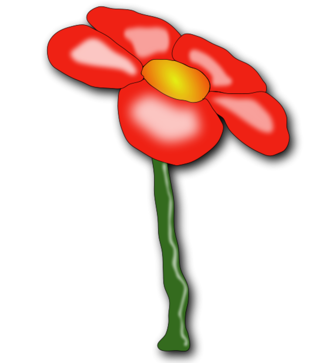 Red Flower with Five Petals