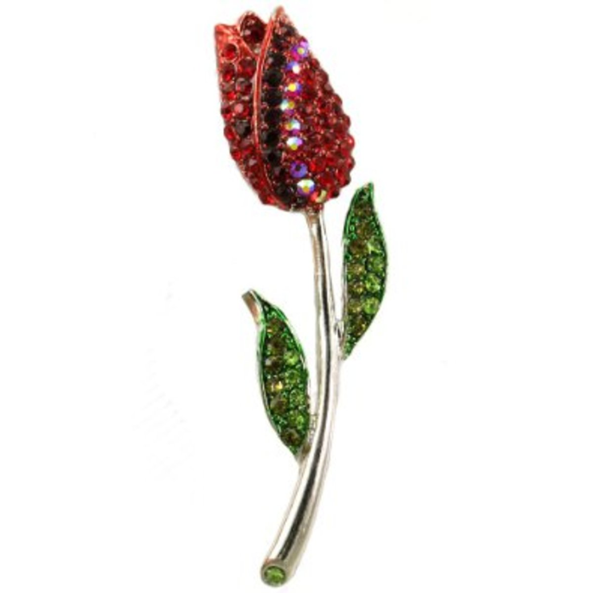 Crystal Tulip Pin