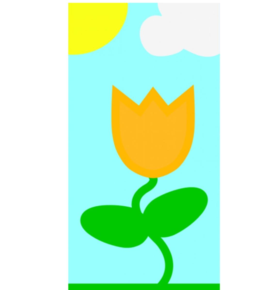 Gold Tulip in Sunshine