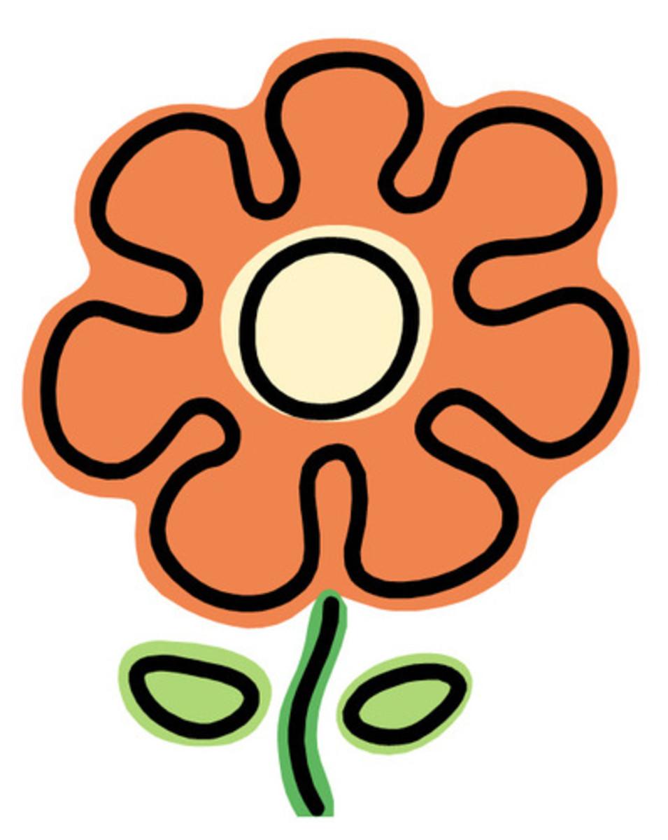 Big Orange Flower