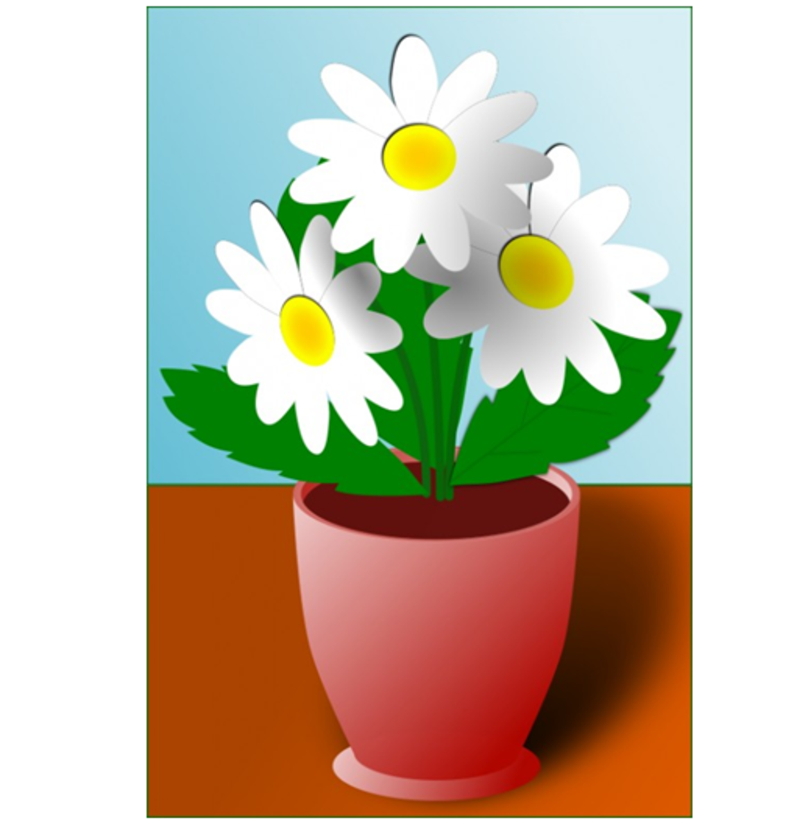 White Daisies in a Flower Pot
