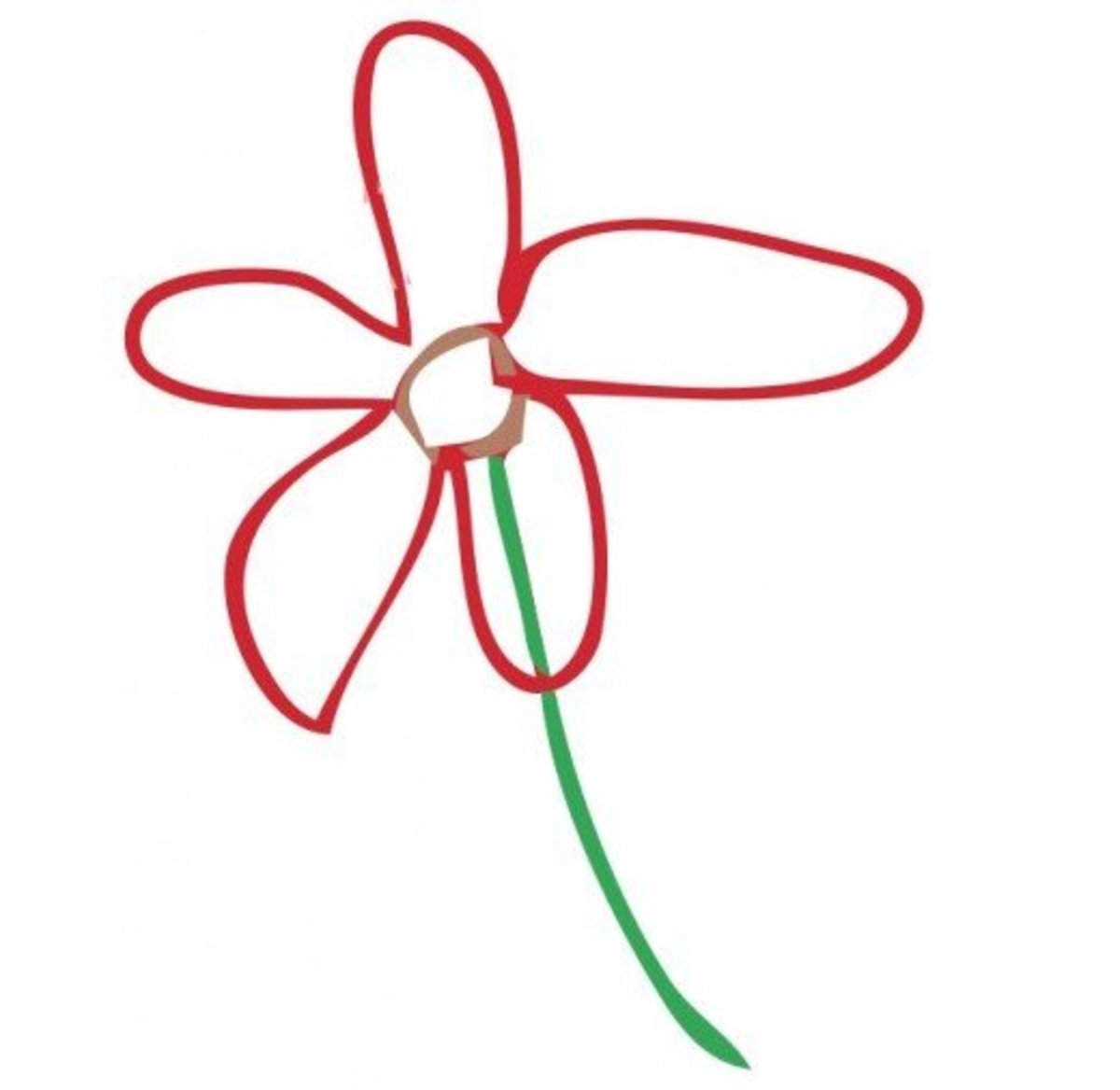 Red Flower Drawing