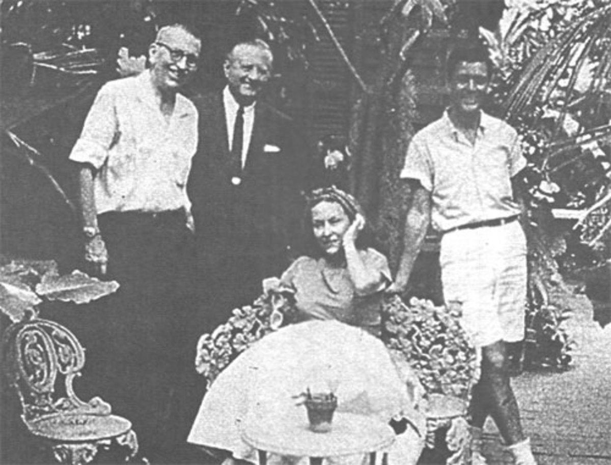 Gene (far left) spending time outside away from Robert