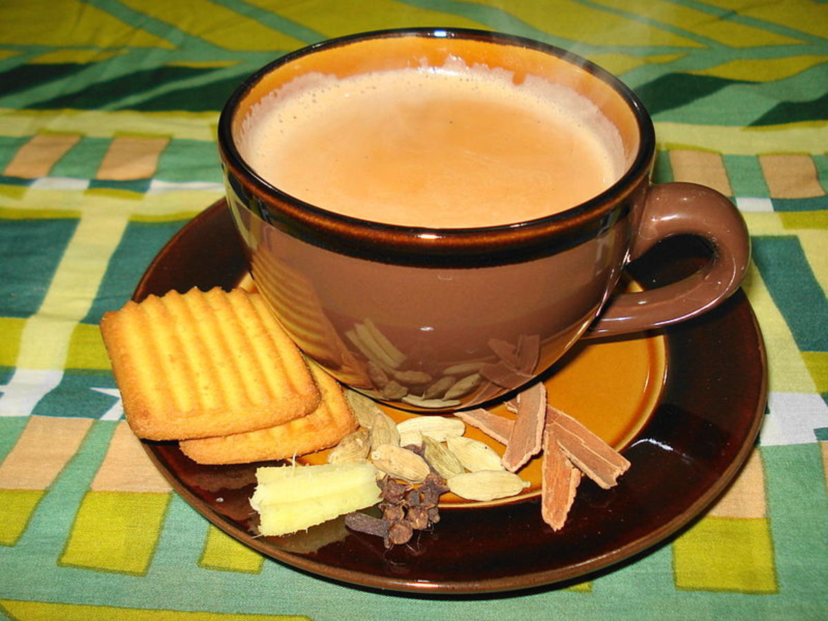 Masala Chai with garnish