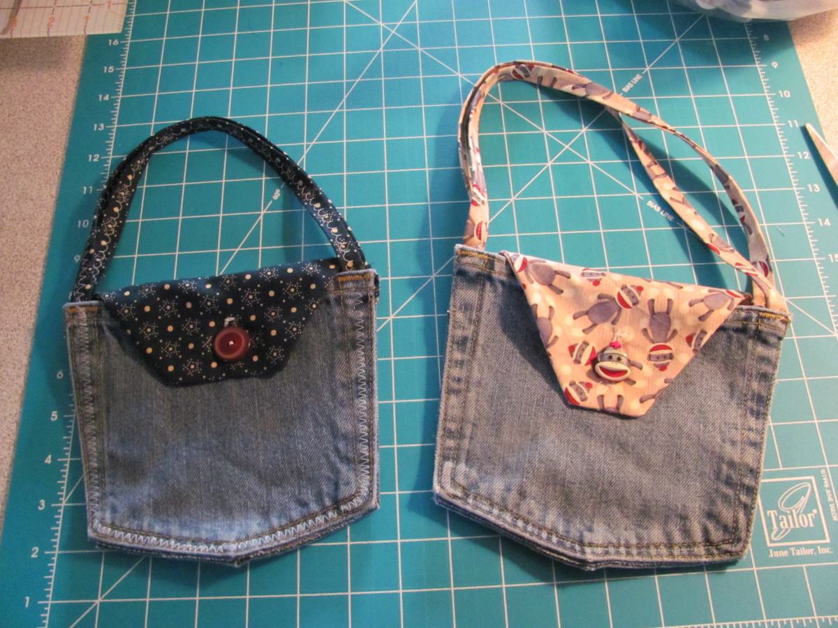 Cute DIY Jeans Pocket Purses