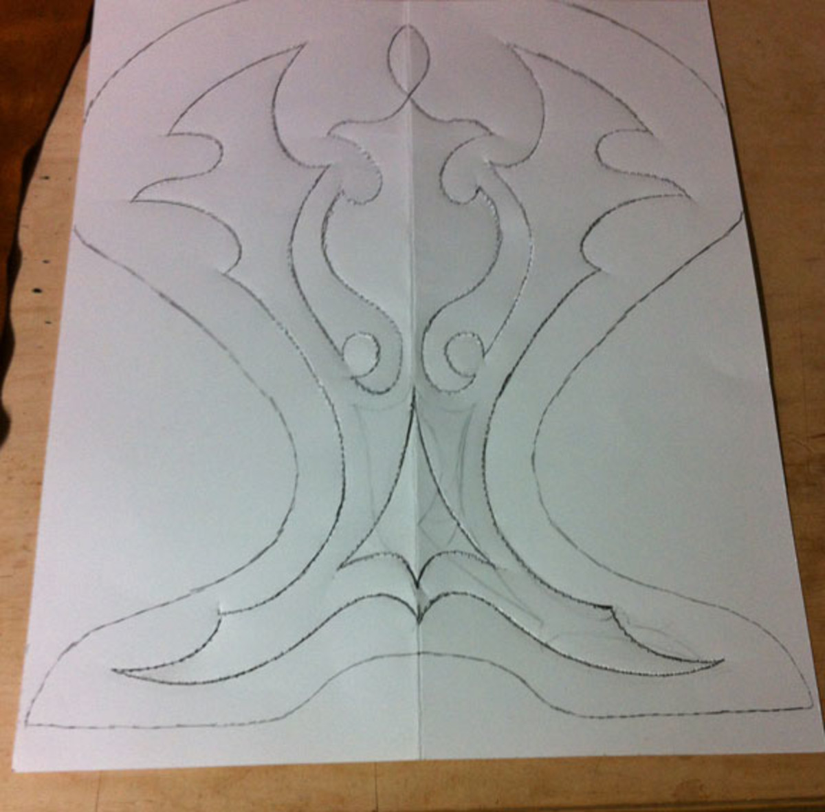 Pattern for western saddle seat decorative stitching