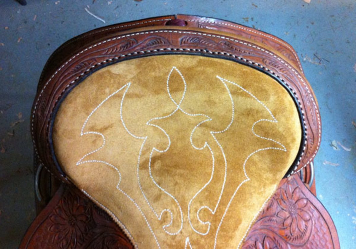 Western saddle seat replacement completed