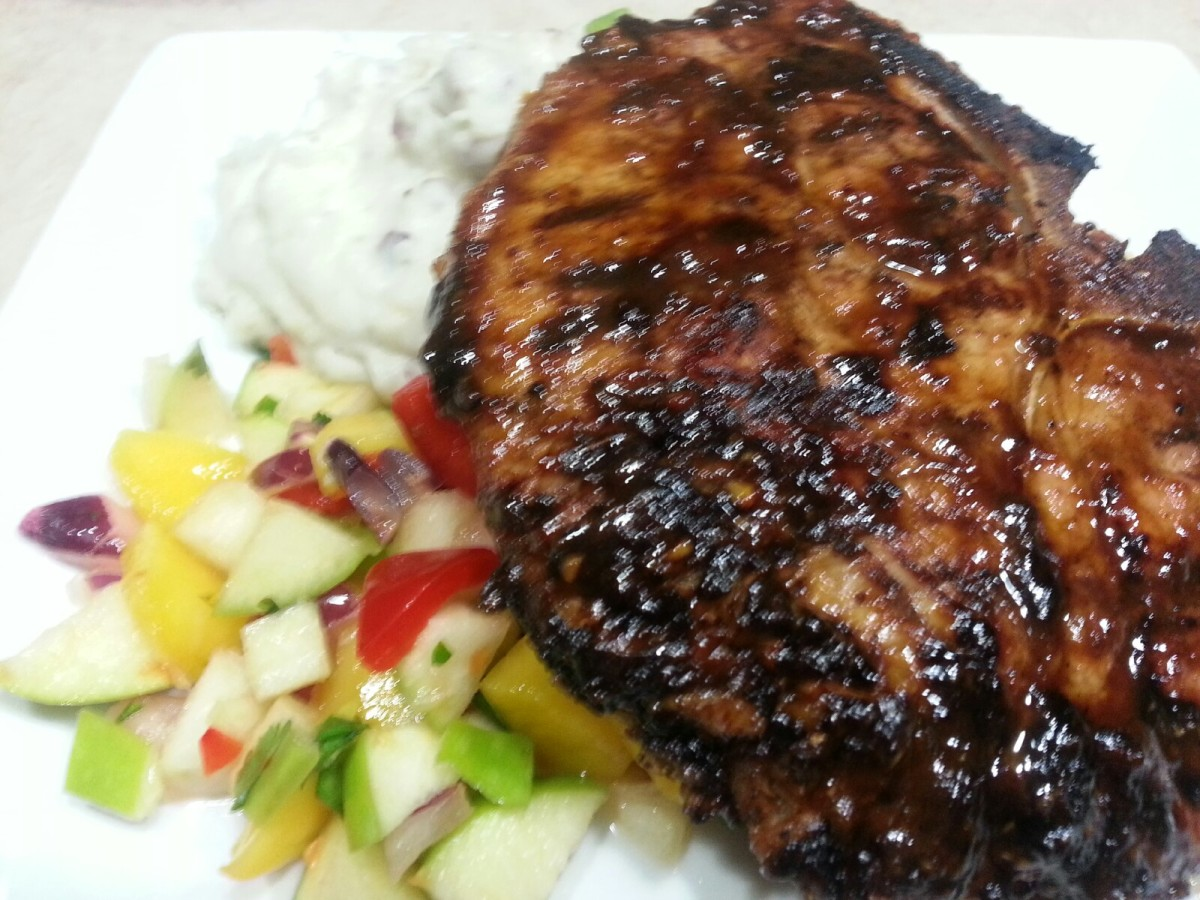 Bahama Breeze Guava Glazed Double Bone Pork chops Recipe