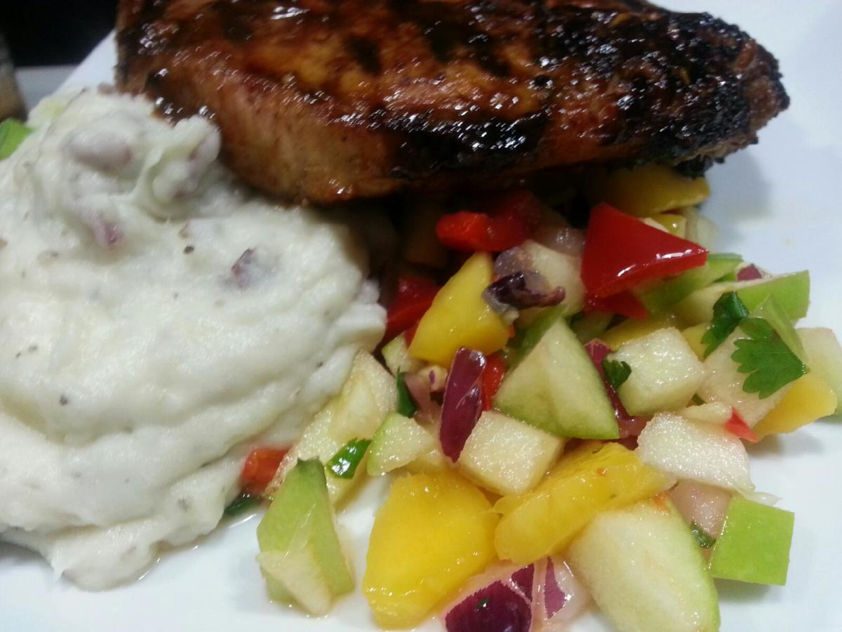 Bahama Breeze Guava Glazed Double Bone Pork Chop
