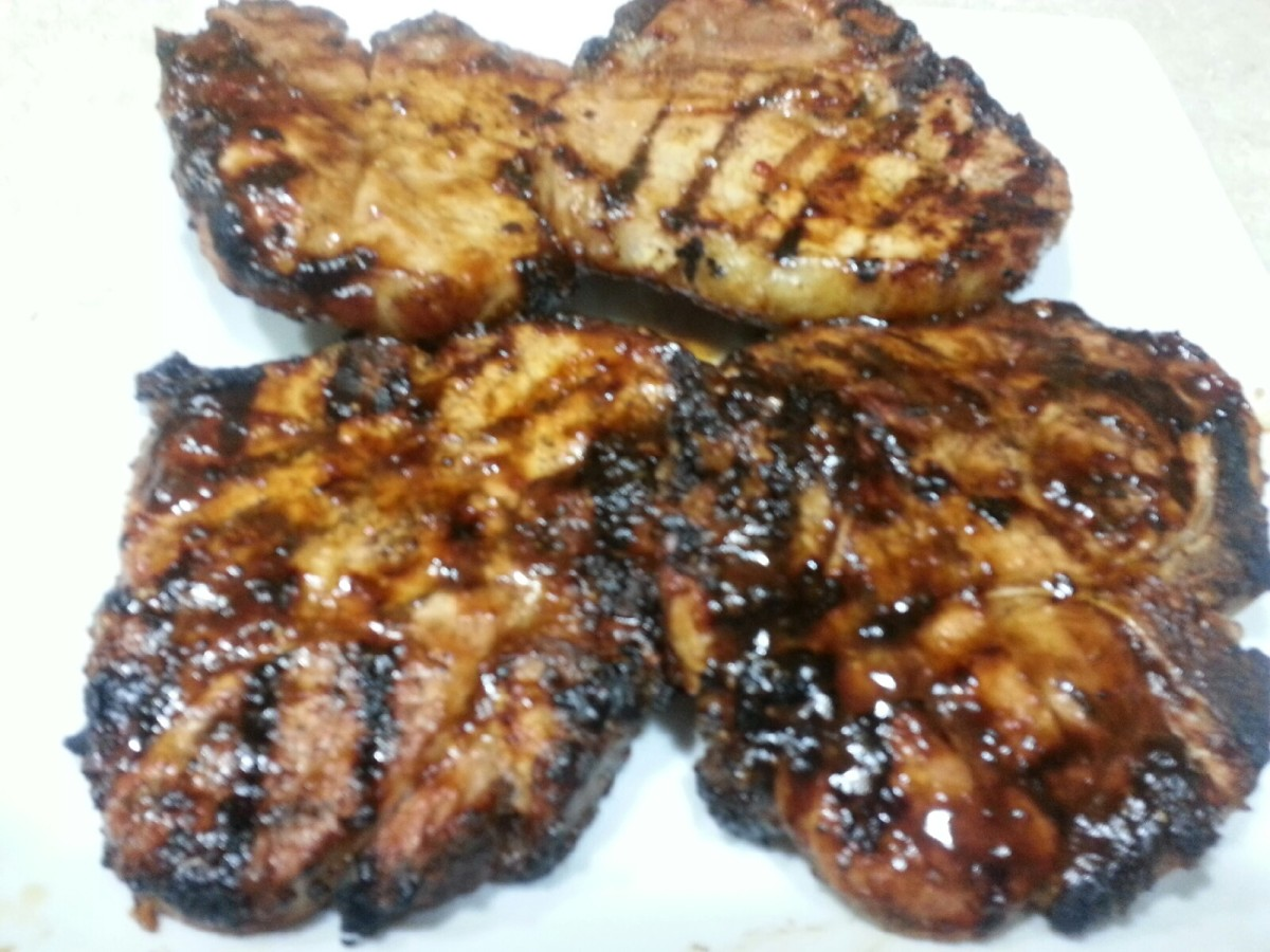 Bahama Breeze Guava Glazed Double Bone Pork Chop. Grilling the chops