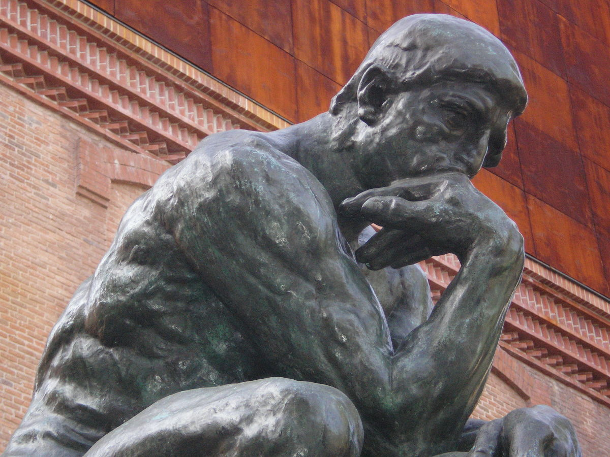 The Thinker. A sculpture in Madrid by François-Auguste-René Rodin: 12th November 1840 to 17th November 1917