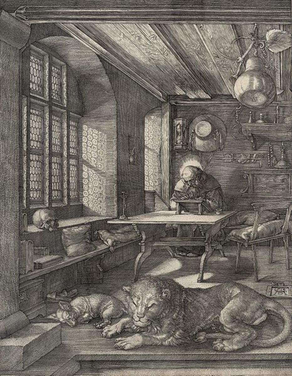 St. Jerome in his Study, copper print 1514