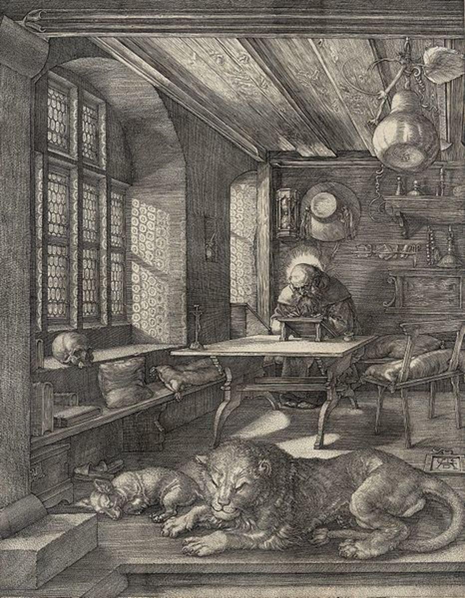 St. Jerome in his Study, copper print 1514
