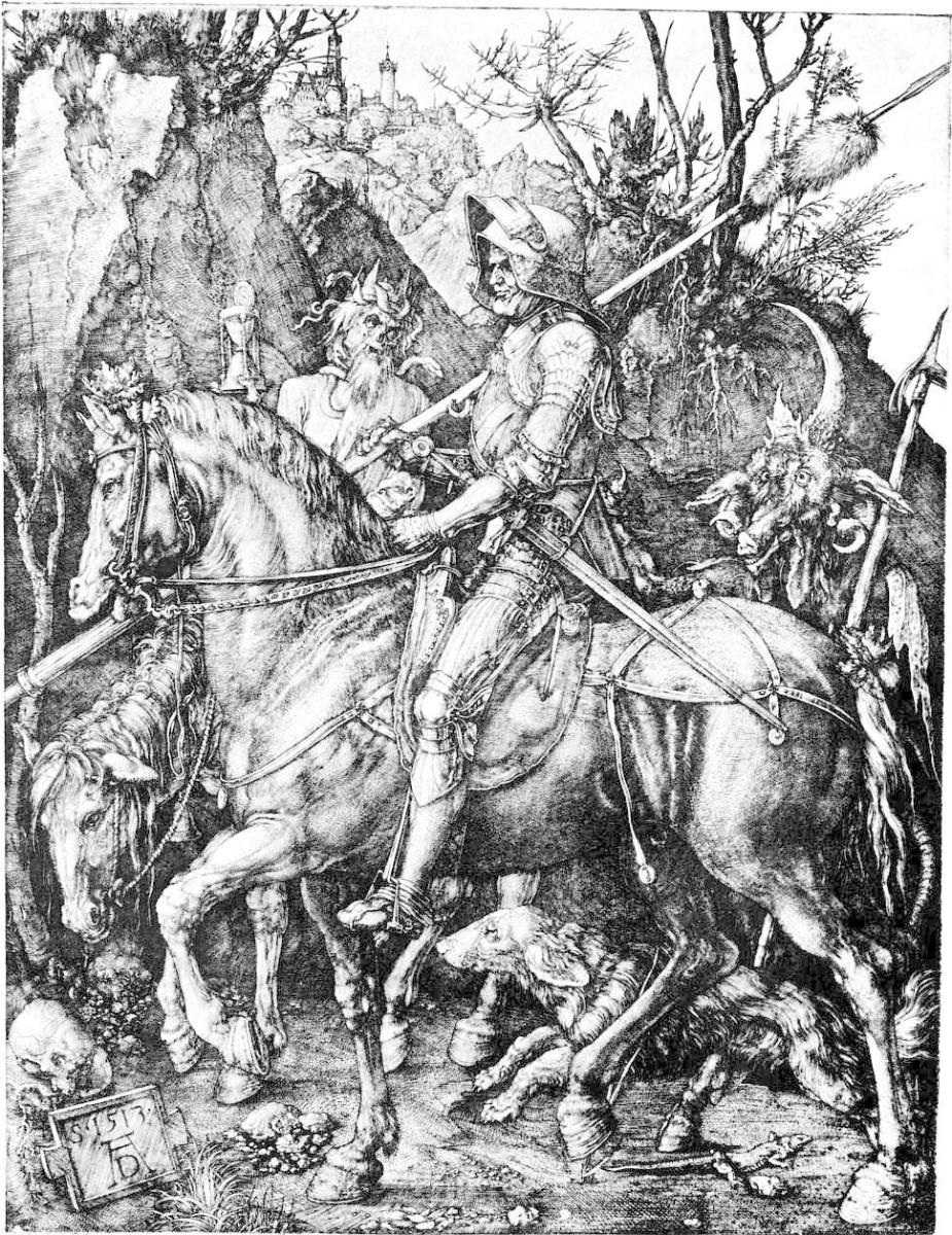 The Knight, Death and the devil, copper print 1514
