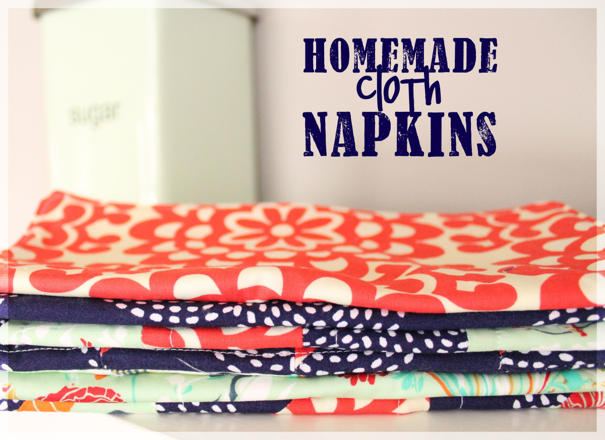 A Tutorial: How to Make Homemade Napkins Using Terrycloth