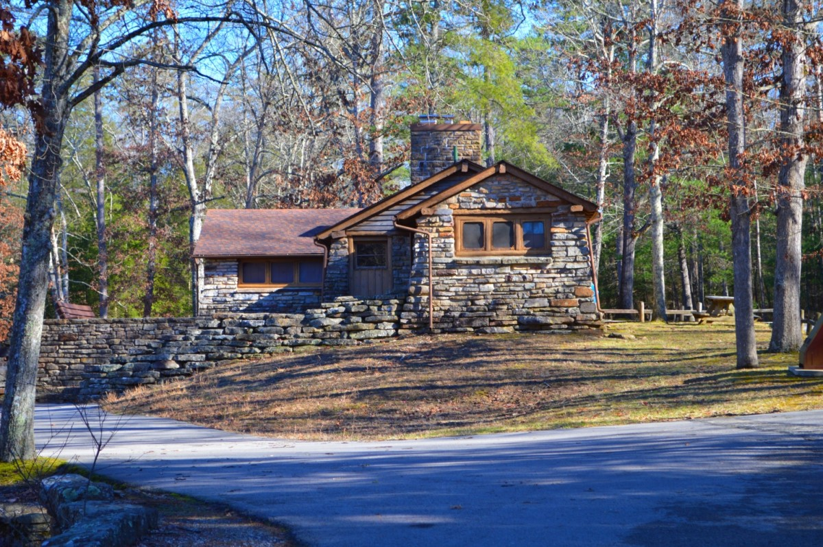 Stone cabins at Pickett State Park TN