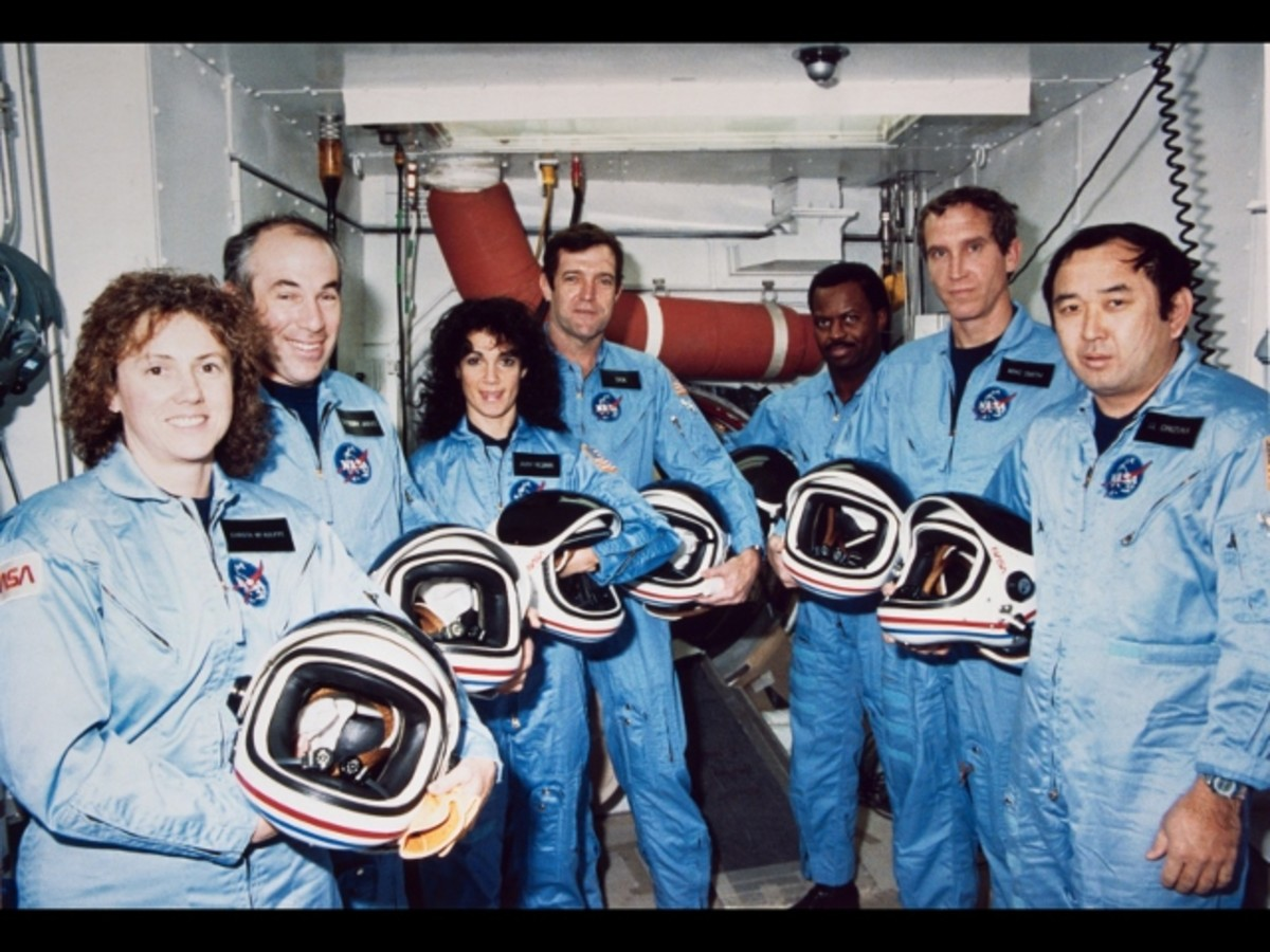 The Challenger Crew  the day before the fateful launch.