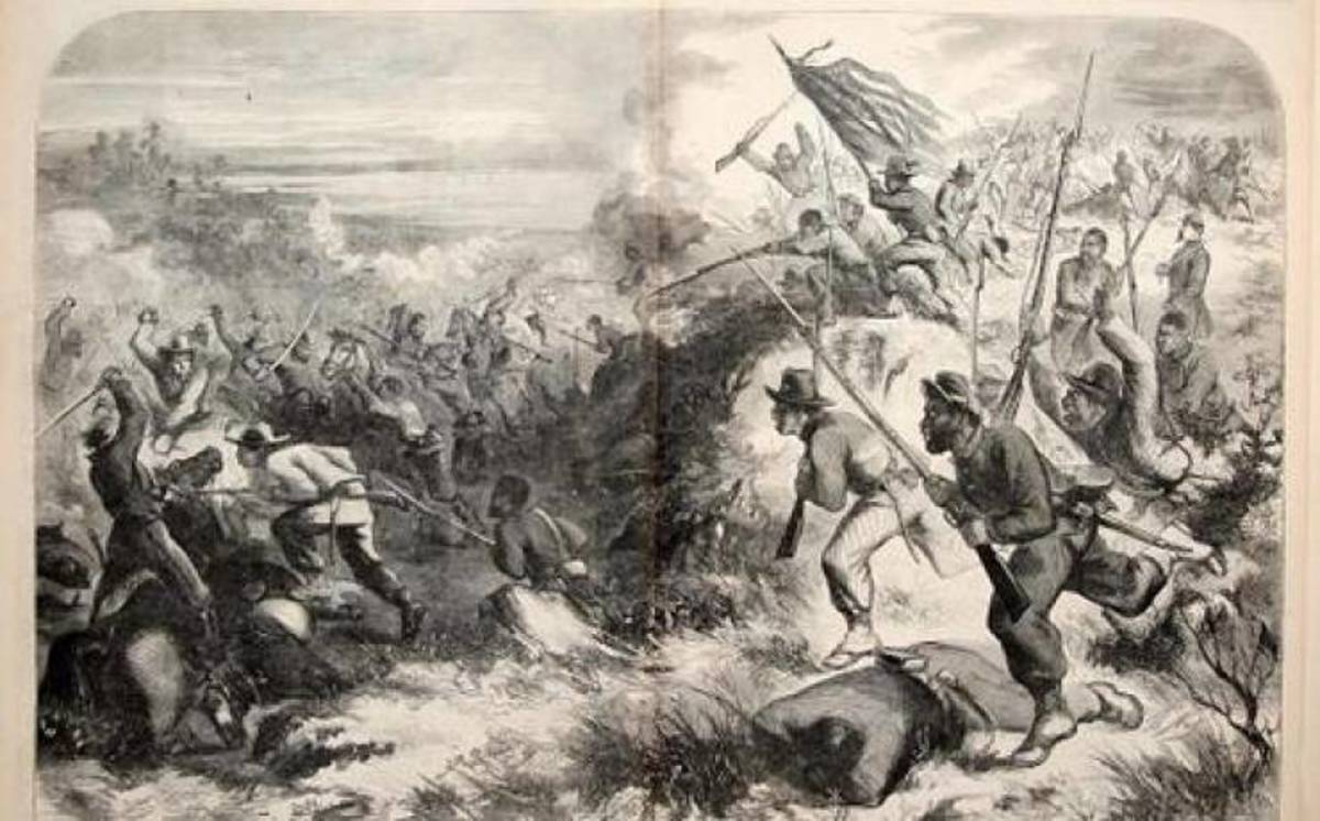 Sketch- Battle of Island Mound in MO, Oct 1862. This was the first known engagement in which Unionist colored troops took place
