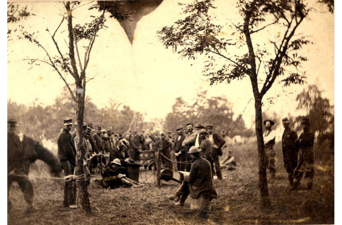 The camp of the Balloon Corps near Gaines Mill, VA in June 1862