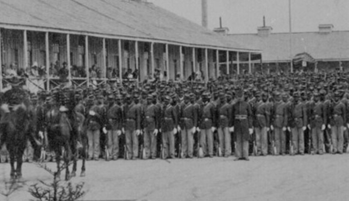US Colored Troops on parade