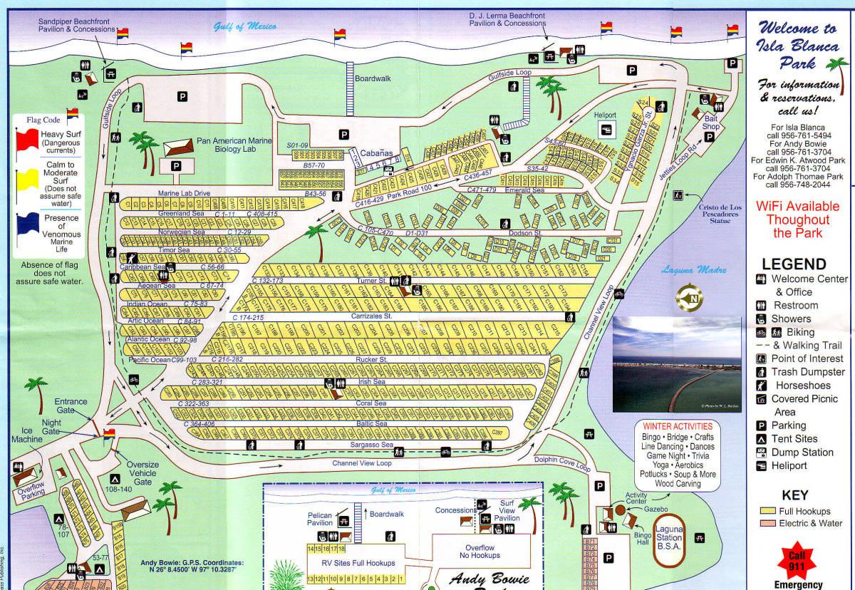 South padre island map street