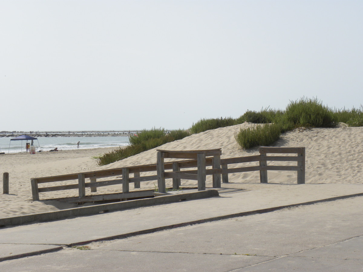 Isla Blanca beach entrance at South Padre Island TX